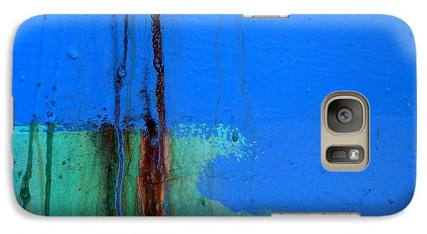Galaxy Case featuring the photograph Blue With Streaks 2 by Robert Riordan