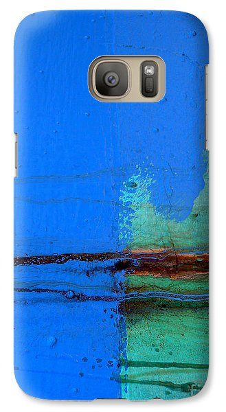 Galaxy Case featuring the photograph Blue With Streaks by Robert Riordan