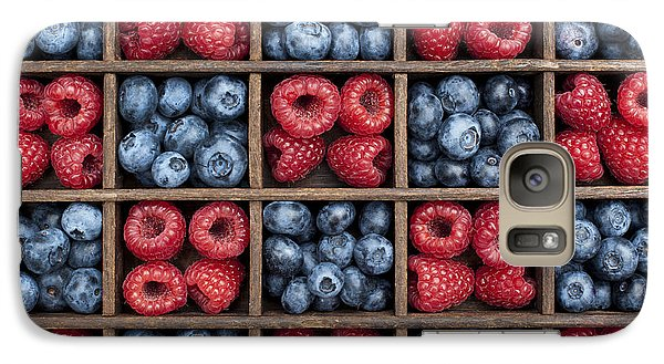 Blueberries And Raspberries  Galaxy S7 Case by Tim Gainey
