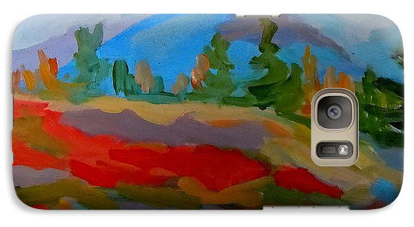 Galaxy Case featuring the painting Blueberry Mountain by Francine Frank