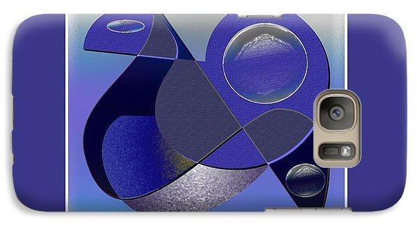 Galaxy Case featuring the digital art Bluebird by Iris Gelbart