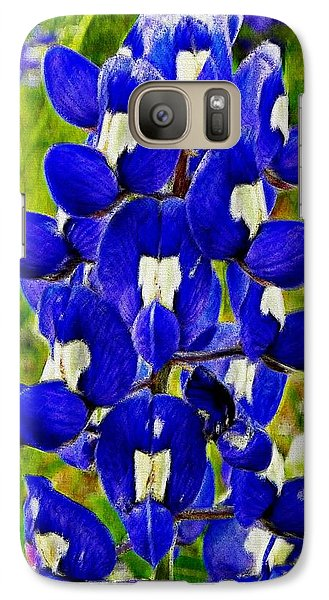 Galaxy Case featuring the photograph Bluebonnet by Kathy Churchman