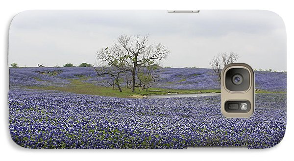 Galaxy Case featuring the photograph Bluebonnet Oasis by Jerry Bunger