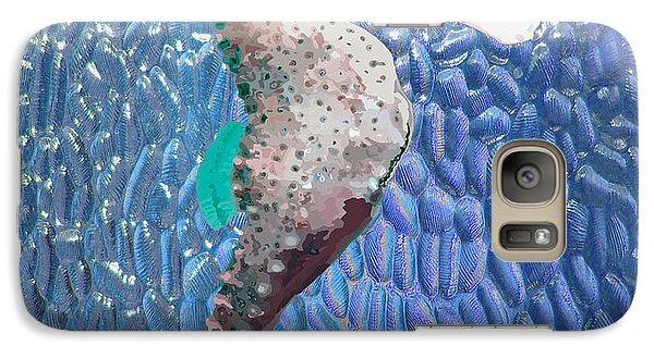 Galaxy Case featuring the digital art Blueglass Seahorse by Megan Dirsa-DuBois