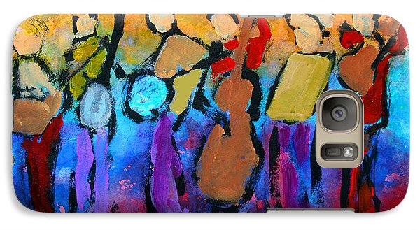 Galaxy Case featuring the painting Bluegrass Band by Mordecai Colodner