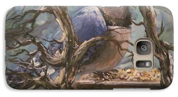 Galaxy Case featuring the painting Bluejay by Megan Walsh