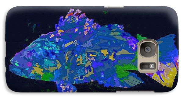 Galaxy Case featuring the digital art Blufish by David Klaboe
