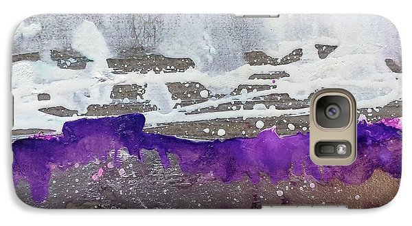 Galaxy Case featuring the painting Blurred Fence by Yolanda Koh