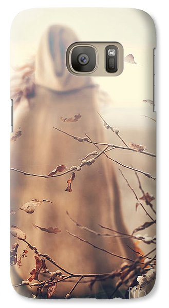 Galaxy Case featuring the photograph Blurred Image Of A Woman With Cape by Sandra Cunningham