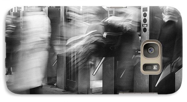 Galaxy Case featuring the photograph Blurred In Turnstile by Dave Beckerman