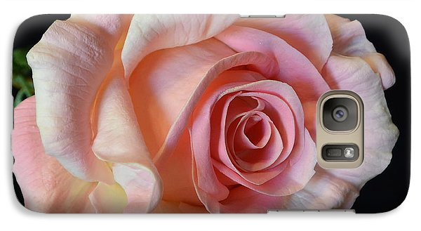 Galaxy Case featuring the photograph Blushing Pink Rose by Jeannie Rhode