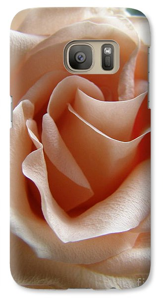 Galaxy Case featuring the photograph Blushing Rose by Margie Amberge