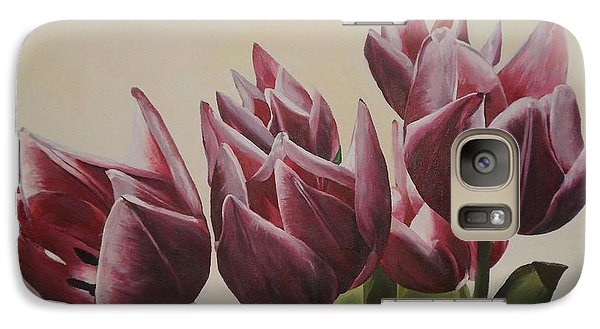Galaxy Case featuring the painting Blushing Tulips by Cherise Foster