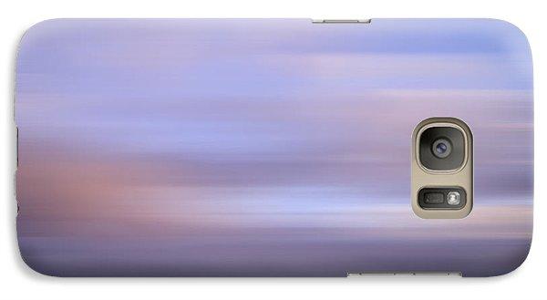 Galaxy Case featuring the photograph Bluured Sky 5 by John  Bartosik