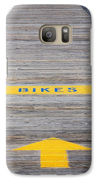Galaxy Case featuring the photograph Boardwalk Biking by Mary Beth Landis