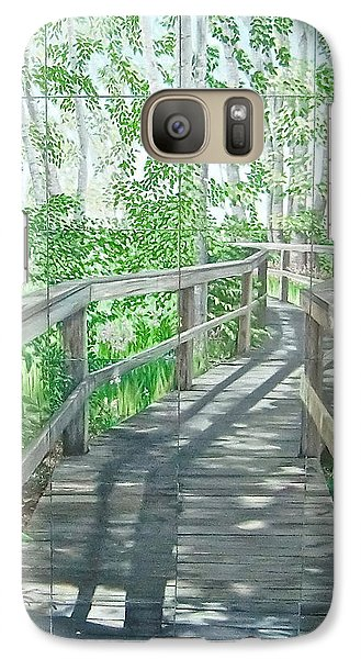 Galaxy Case featuring the painting Boardwalk by Bonnie Heather