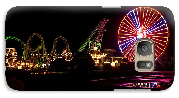 Galaxy Case featuring the photograph Boardwalk Night by Greg Graham