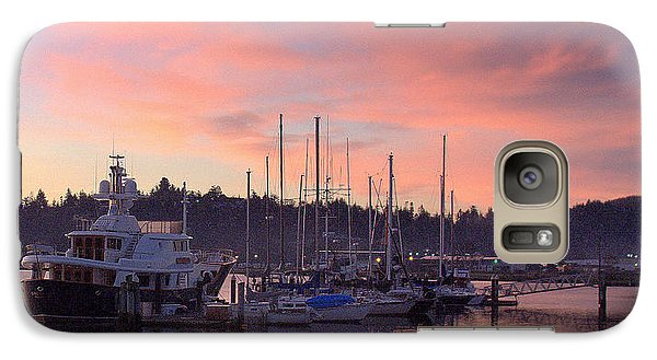 Galaxy Case featuring the photograph Boardwalk Sunrise by Suzy Piatt