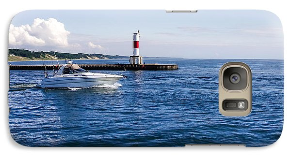 Galaxy Case featuring the photograph Boat At Holland Pier by Lars Lentz