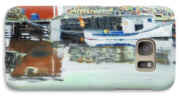 Galaxy Case featuring the painting Boat At Louisburg Ns by Michael Daniels