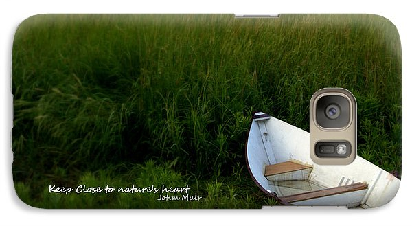 Galaxy Case featuring the photograph Boat In The Marsh by Caroline Stella