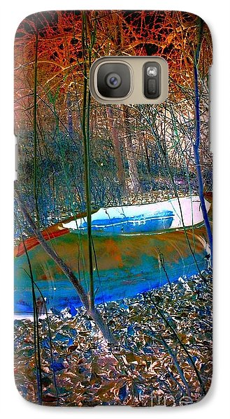 Galaxy Case featuring the photograph Boat In The Woods by Karen Newell
