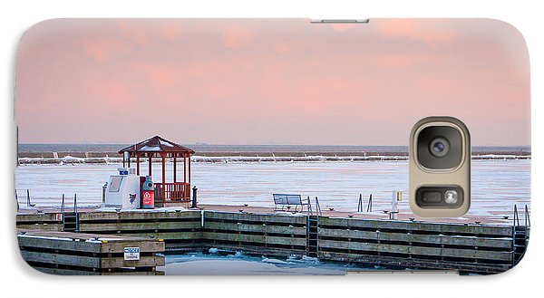 Galaxy Case featuring the photograph Boat Pier Lake Michigan by Dawn Romine