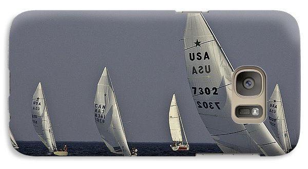Galaxy Case featuring the photograph Boat Racers by Michael Nowotny