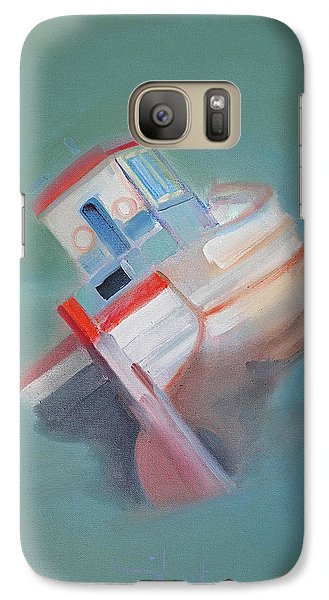 Galaxy Case featuring the painting Boat Retired  Tavira by Charles Stuart
