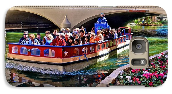 Galaxy Case featuring the photograph Boat Ride At The Riverwalk by Ricardo J Ruiz de Porras