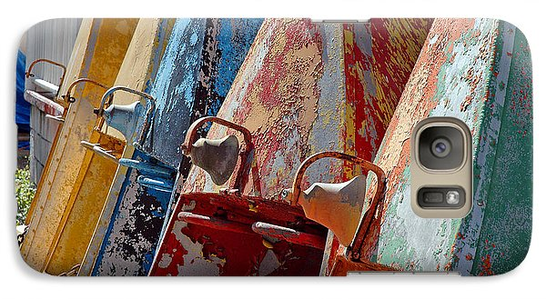 Galaxy Case featuring the photograph Boat Row by Allen Carroll