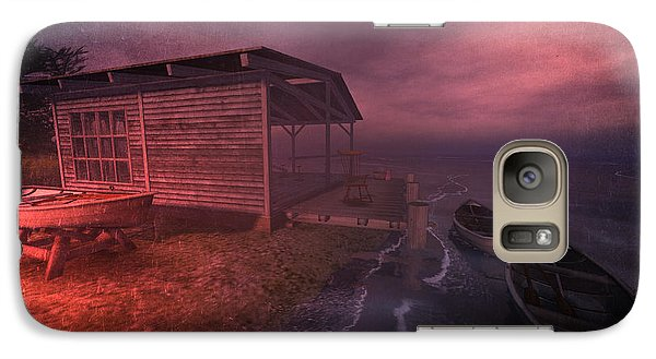 Galaxy Case featuring the digital art Boathouse by Kylie Sabra
