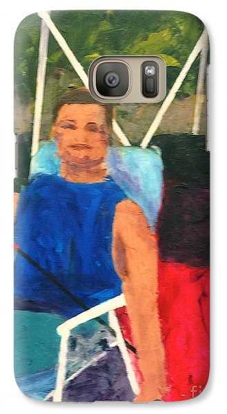 Galaxy Case featuring the painting Boating by Donald J Ryker III