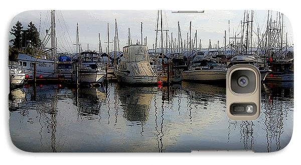 Galaxy Case featuring the photograph Boats At Marina On Liberty Bay by Greg Reed