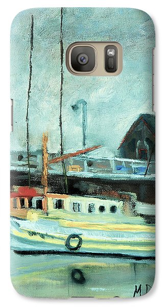 Galaxy Case featuring the painting Boats At Provincetown Ma by Michael Daniels