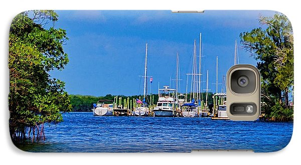 Galaxy Case featuring the photograph Boat's Home by Pamela Blizzard