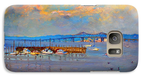 Boats In Piermont Harbor Ny Galaxy S7 Case