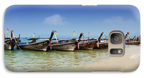 Galaxy Case featuring the photograph Boats In Thailand by Zoe Ferrie