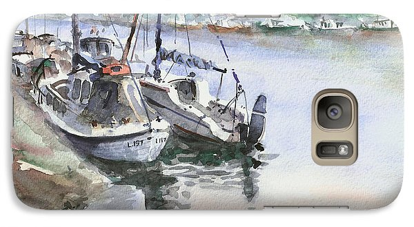 Galaxy Case featuring the painting Boats Inshore by Faruk Koksal