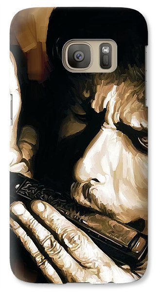 Bob Dylan Artwork 2 Galaxy Case by Sheraz A