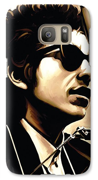 Bob Dylan Artwork 3 Galaxy Case by Sheraz A
