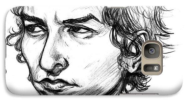 Galaxy Case featuring the drawing Bob Dylan Sketch Portrait by John Ashton Golden
