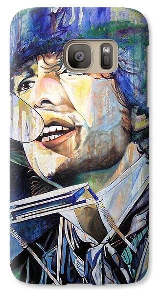 Bob Dylan Galaxy S7 Case - Bob Dylan Tangled Up In Blue by Joshua Morton