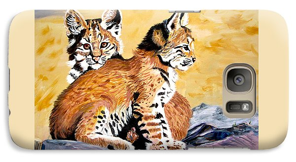 Galaxy Case featuring the painting Bob Kittens by Phyllis Kaltenbach