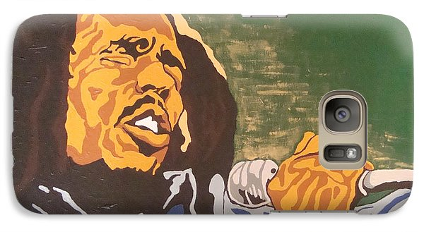 Galaxy Case featuring the painting Bob Marley by Rachel Natalie Rawlins