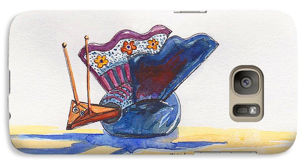 Galaxy Case featuring the painting Bobbly Beauty by Julie Maas