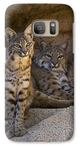 Galaxy Case featuring the photograph Bobcat 8 by Arterra Picture Library