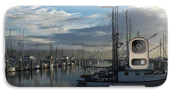 Galaxy Case featuring the drawing Bodega Fishing Boats by Dianne Levy