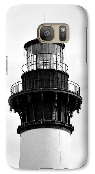 Galaxy Case featuring the photograph Bodie Lighthouse Lens In Black And White by Bob Sample