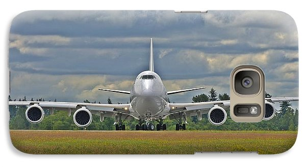 Galaxy Case featuring the photograph Boeing 747-800 by Jeff Cook
